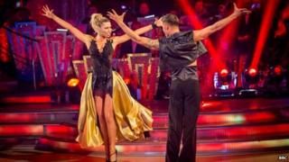Abbey Clancy and Aljaz Skorjanec on Strictly
