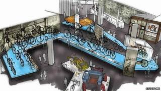 Artist's impression of the inside of the new museum