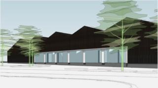 Yeovil College artist impression of construction skills centre