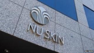 Sign outside Nu Skin office