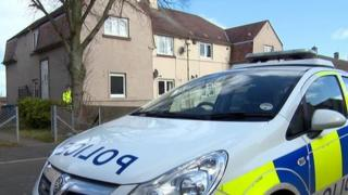 Police at house in Donald Crescent