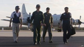 A Japanese team at the Royal Australian Air Force base Pearce in Bullsbrook, 35 km north of Perth, Australia, 23 March 2014