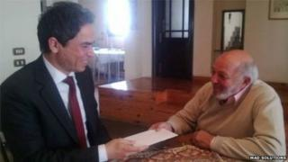 Muhammad Khan receives his citizenship