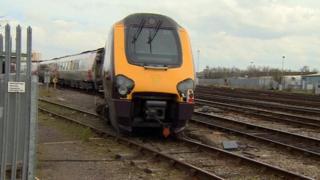Derailed train Barton Hill