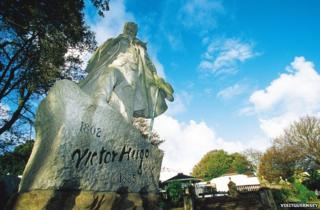 Victor Hugo statue in Guernsey