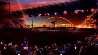 Artist's impression of Commonwealth opening ceremony