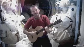 Chris Hadfield on the International Space Station
