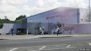 Artist's impression of new Rochester Railway Station
