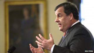 New Jersey Governor Chris Christie appeared in Trenton, New Jersey, on 28 March 2014