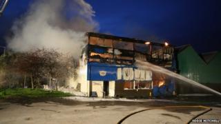 Fire at Phoenix Theatre