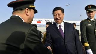 Mr Xi is on an official four-nation Europe tour