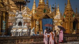 Buddhist festival, Yangon, March 2014