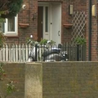 The scene in Hackney where the mother and daughter were found