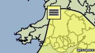 The yellow warning fog for Wales