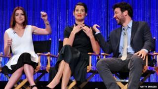 How I Met Your Mother cast members Alyson Hannigan, Cobie Smulders and Josh Radnor