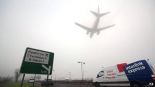 Fog at Heathrow Airport