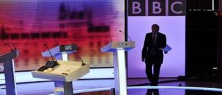 David Dimbleby prepares for the leaders' debates in the 2010 General Election campaign