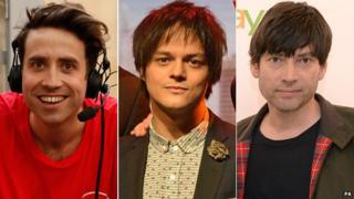 Nick Grimshaw, Jamie Cullum and Alex James