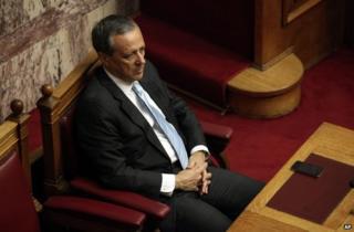 Panayiotis Baltakos in parliament in Athens, December 2013