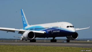 Boeing airplane on tarmac in Sydney