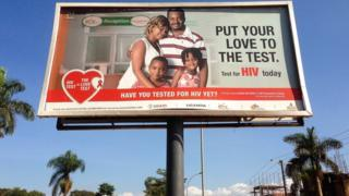 Poster urging people to get tested for HIV