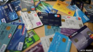 a selection of credit cards