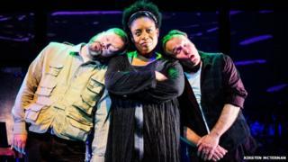 Under Milk Wood: An Opera - Paul Carey Jones, Gweneth Ann Jeffers, and Richard Morris (Photograph: Kirsten McTernan)