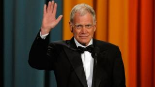 David Letterman waves during the 26 March, 2011, Comedy Awards