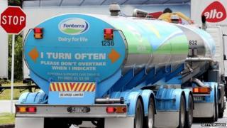Fonterra milk truck