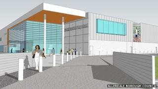 Artist's impression of proposed leisure complex in Workington