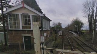 Blankney signal box at Metheringham railway station