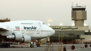 File pic of IranAir Boeing 747