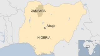 Map showing Zamfara state, Nigeria