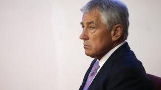 Chuck Hagel has urged China to solve territorial disputes in the region