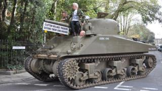 Sherman tank in Clifton
