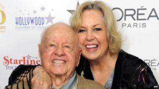 Mickey Rooney with his eighth wife Janice in 2010