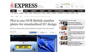 Daily Express article - screen grab