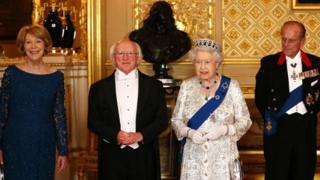 Sabina Higgins, Irish President Michael D Higgins, the Queen and the Duke of Edinburgh