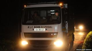 Emergency services drafted in bomb disposal experts to Wiston