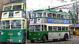 No 105 trolleybus