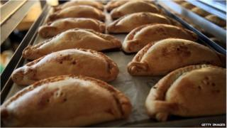 A tray of pasties in this file picture from 03/03/12