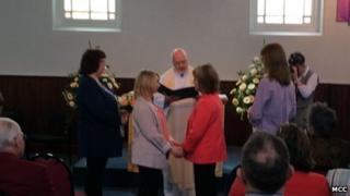 Jan Tipper and Barb Burden's wedding