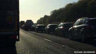 A30 tailback. Pic: Richard Wickenden