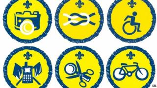 A selection of the new scout badges