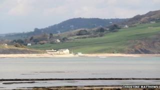 Charmouth from Lyme Regis