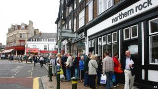 Northern Rock queue in 2007