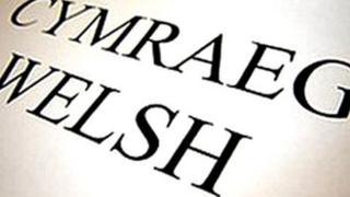 Cymraeg-Welsh sign