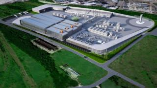 Artist's impression of the new GreenSky complex at Thurrock