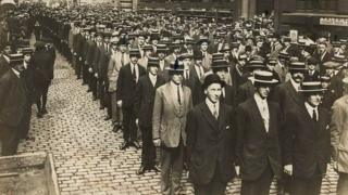 Volunteers for the Liverpool Pals