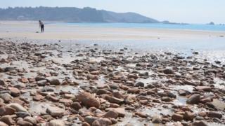 Rocks on St Brelade Bay
